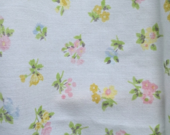 Tiny Pink, Yellow, and Blue Flowers * Vintage Fitted Sheet