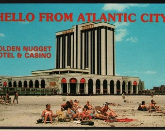 Golden Nugget Hotel & Casino + Atlantic City, New Jersey + Vintage Souvenir Postcard
