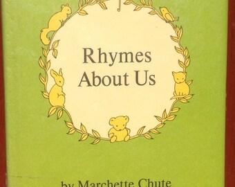 Rhymes About Us * Marchette Chute * 1974 * Vintage Kids Book