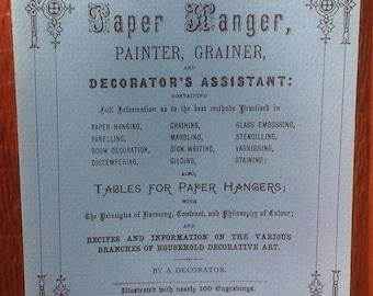 Victorian Interior Decoration The Paper Hanger, Painter, Grainer, and Decorator's Assistant + 1980s + Vintage DIY Book