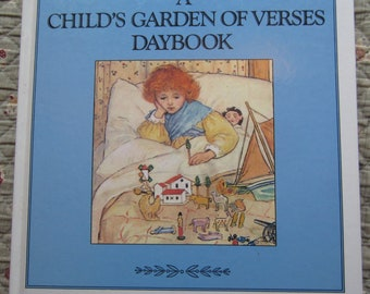 A Child's Garden of Verses Daybook + Robert Louis Stevenson + Chronicle Books + 1989 + Vintage Kids Book