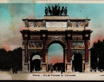 Arc de Triomphe du Carrousel * Lader 48 * Paris, France * Vintage Postcard