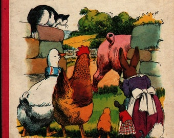 Henry Goes Visiting: A Blackberry Farm Book + Jane Pilgrim + F. Stocks May + Brockhampton Press + 1972 + Vintage Kids Book