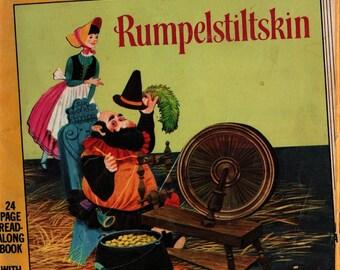 Rumpelstiltskin a Little Golden Book & Cassette + The Brothers Grimm + William J. Ducan + 1962 + Vintage Kids Book