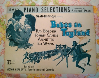 Walt Disney Presents Babes in Toyland + Robert Pace, arranger + 1961 + Vintage Sheet Music