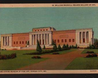 William Rockhill Nelson Gallery of Art and Atkins Museum of Fine Art – Kansas City, Missouri – Vintage Curteich Postcard