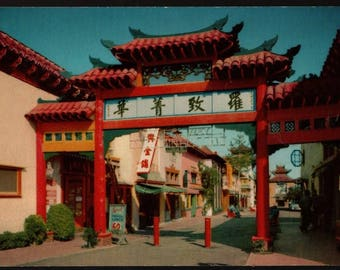 Chinese Settlement – Chinatown, Los Angeles, California – Vintage Souvenir Postcard