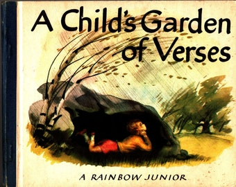 A Child's Garden of Verses * A Rainbow Junior * Robert Louis Stevenson * Amy Jones * The World Publishing Company * 1946 + Vintage Kids Book