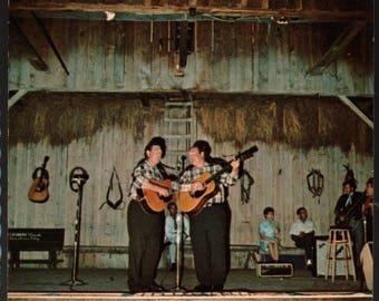 The Baker Brothers * Renfro Valley Barn Dance * Kentucky * Vintage Souvenir Postcard