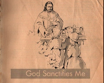 God Sanctifies Me + 1959 + Vintage Religious Book
