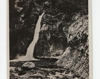 Sospel * La Bevera * Waterfall *  Maritime Alps * France * Black and White Photo * Vintage Postcard
