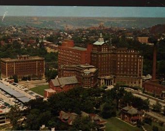 The Christ Hospital + Cincinnati, Ohio + Vintage Photo Postcard
