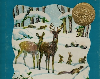 The Big Snow + Berta and Elmer Hader + 1976 + Vintage Kids Book