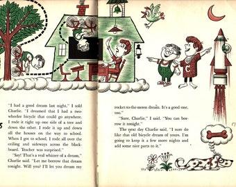 My Friend Charlie + James Flora +  1964 + Vintage Kids Book