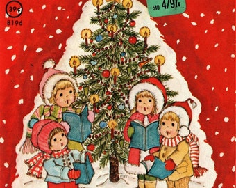 My First Picture Book of Christmas Carols a Rand McNally Junior Elf Book + Mary McClain + 1979 + Vintage Book