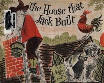 The House That Jack Built + Paul Galdone + 1961 + Vintage Kids Book