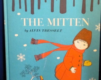 The Mitten An Old Ukrainian Folktale + Allen Tresselt + Yaroslava + 1964 + Vintage Kids Book