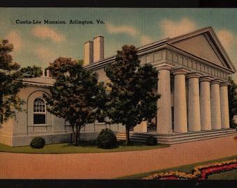 Custis-Lee Mansion * Arlington, Virginia * 1941 * Vintage Colorchrome Postcard