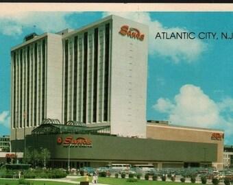 Sands Hotel & Casino + Atlantic City, New Jersey + Vintage Souvenir Postcard