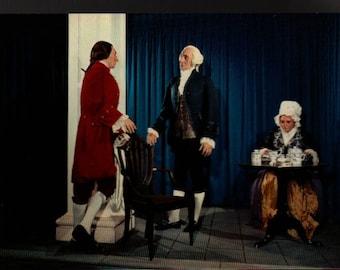 Burr Hamilton Duel + National Historical Wax Museum + Vintage Souvenir Postcard