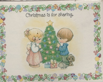 Christmas is for Sharing Party invitations (Set of 8) * 1993 * Vintage Stationery