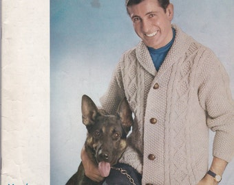 Diamond Yarn Corp. Book No 28 Men's Fashions in Lee Target British Yarns + Vintage Knitting Patterns