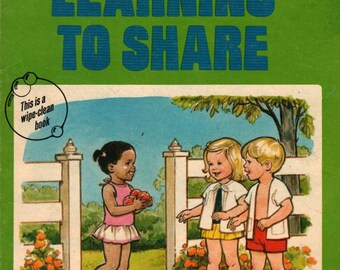 Learning to Share * Diane McIntyre & Marian Bennett * Pat Karch * 1976 * Vintage Kids Book