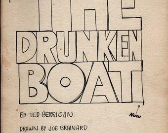 The Drunken Boat: A Homage To Arthur Rimbaud + Ted Berrigan + Joe Brainard + 1974 + Vintage Poetry Book