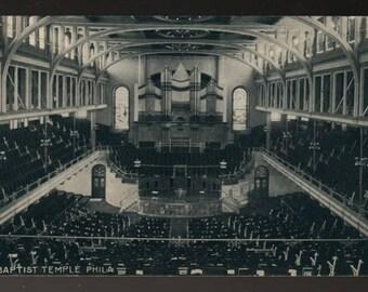 Baptist Temple Philadelphia * Vintage Photo Postcard