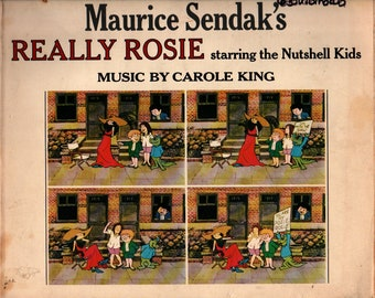 Really Rosie Starring the Nutshell Kids + Maurice Sendak and Carole King + Harper & Row + 1975 + Vintage Kids Book