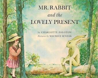 Mr. Rabbit and the Lovely Present * Charlotte Zolotow * Maurice Sendak * 1962 * Vintage Kids Book