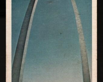 Gateway Arch + Jefferson National Expansion Memorial + St. Louis, Missouri + 1969 + Vintage Promotional Postcard