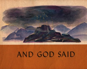 And God Said + Deborah Vaill + Johannes Troyer + The Westminster Press + 1961 + Vintage Religious Book