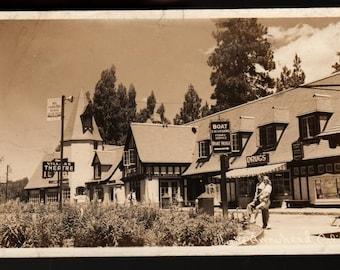Village Theatre + California + 1946 + Vintage Photo Postcard
