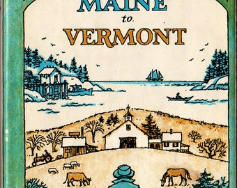Hooper's Pasture from Maine to Vermont + John S. Hooper + Jeff Danziger + The New England Press + 1982 + Vintage Book
