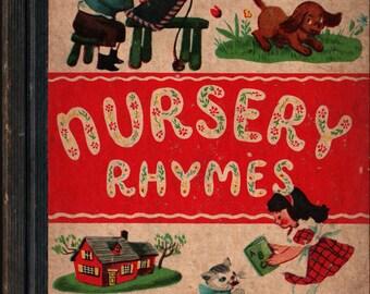 Nursery Rhymes + Dolli Tingle + The Samuel Lowe Company + 1948 + Vintage Kids Book
