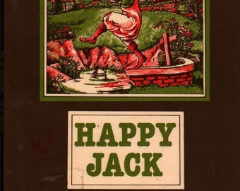 Happy Jack An I Can Read Book + Malcolm Carrick + 1979 + Vintage Kids Book