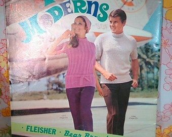 Hand Knits for Young Moderns Vol. 12 + 1969 + Vintage Knitting Patterns