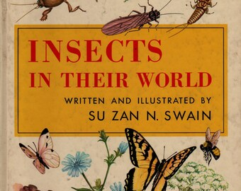 Insects In Their World - Su Zan N. Swain - 1955 - Vintage Kids Book