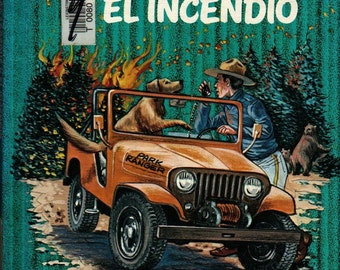 Don, El Guardabosque Y El Incendio * Spanish Language * Robert Whitehead * 1978 * Vintage Kids Book