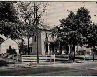 Birthplace of James Whitcomb Riley + The Hoosier Poet + Greenfield, Indiana + Vintage Photo Postcard