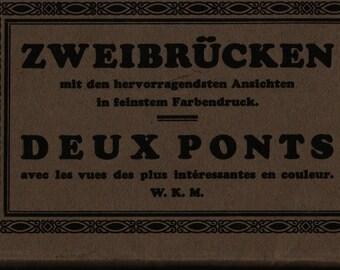Zweibrucken + Deux Ponts + Vintage Souvenir Postcard Book