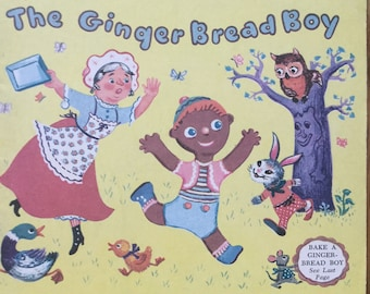 The Gingerbread Boy * A Playtime Library Story Book To Read and Color * Capitol Publishing Company * 1952 * Vintage Coloring Book