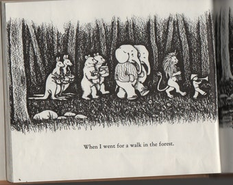 In The Forest + Marie Hall Ets + 1970 + Vintage Kids Book