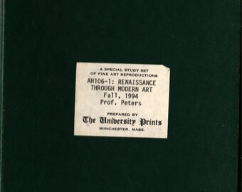 The University Prints: Renaissance Through Modern Art + The University Prints + 1994 + Vintage Art Book