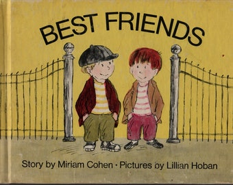 Best Friends + Miriam Cohen + Lillian Hoban + The MacMillan Company + 1971 + Vintage Kids Book