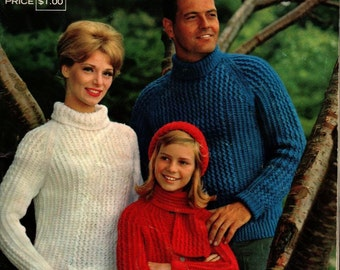 Great American Knits by Columbia Minerva + Vintage Pattern Book