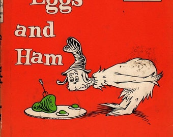 Green Eggs and Ham + Dr. Seuss + 1960 + Vintage Kids Book
