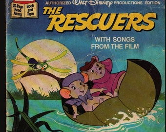 The Rescuers With Songs from the film + 1977 + Vintage Kids Book