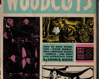 The Craft of Woodcuts + John R. Biggs + 1963 + Vintage Book